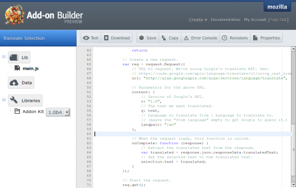 Add-on Builder