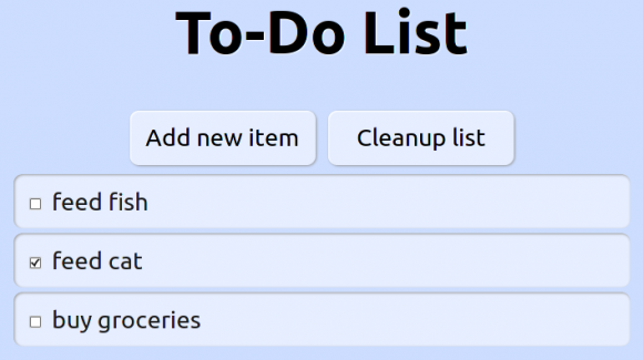 To-Do list webapp