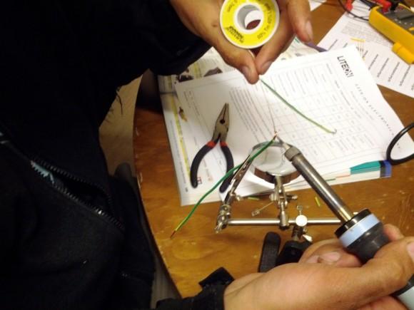 James soldering